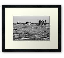 Desolate Dungeness Framed Print