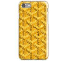 Goyard yellow case perfect design iPhone Case/Skin
