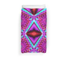 Tumbling squares, abstract, fractal patterns Duvet Cover