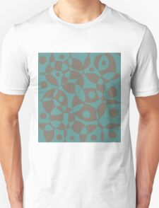 Blue and brown texture Unisex T-Shirt