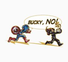 Bucky NO! by DustBunnyArt