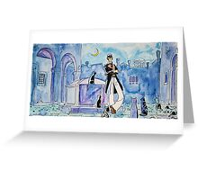 Corto Maltese with cats  Greeting Card