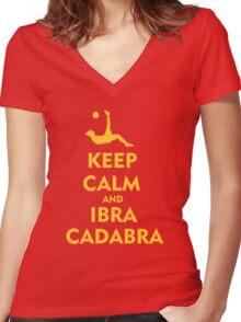 Keep Calm & ibracadabra Women's Fitted V-Neck T-Shirt