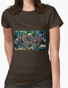 Tempest in a Tea Cup  or Lizard Owl Eagle each with a Snail Womens Fitted T-Shirt
