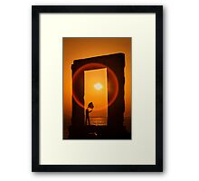 Gate of the Winds - Portara, Naxos island Framed Print