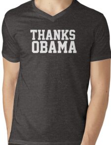 Thanks Obama! Mens V-Neck T-Shirt