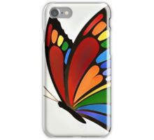 Colorful Rainbow Butterfly iPhone Case/Skin