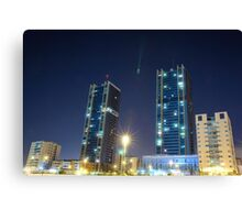 twin buildings Canvas Print