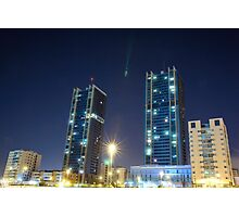 twin buildings Photographic Print