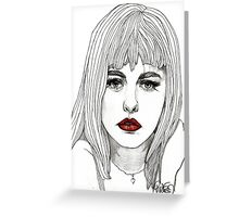 Patsy with Red Lips Greeting Card