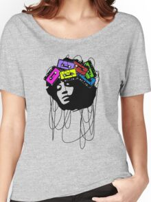 Cassette music head colored Women's Relaxed Fit T-Shirt