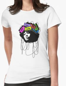 Cassette music head colored Womens Fitted T-Shirt