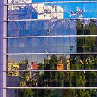 Santiago through glass by indiafrank