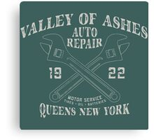 Valley of Ashes Auto Repair Canvas Print