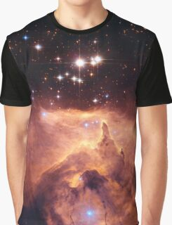 HUBBLE, NASA, Cosmos, Cosmic, Space, Telescope, Astronomy, Star cluster, Pismis 24, with nebula Graphic T-Shirt