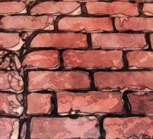 Vintage Brick Street Sticker