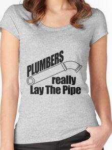 Plumbers really lay the Pipe Women's Fitted Scoop T-Shirt