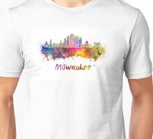 Milwaukee V2  skyline in watercolor Unisex T-Shirt