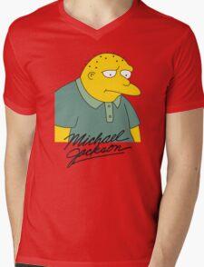Leon Kompowsky – Simpsons, Stark Raving Dad Mens V-Neck T-Shirt