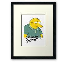 Leon Kompowsky – Simpsons, Stark Raving Dad Framed Print