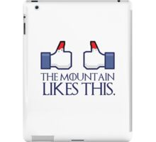 The mountain likes this (thumbs up) iPad Case/Skin