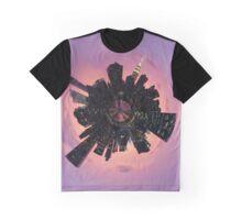 Manhattan Skyline Tiny Planet Graphic T-Shirt