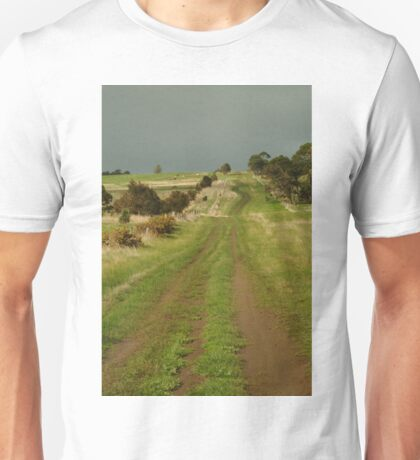 Joe Mortelliti Gallery - Heavy cloud over Spray Farm, Bellarine Peninsula, Victoria, Australia.  Unisex T-Shirt