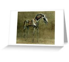 Wooden Horse Greeting Card