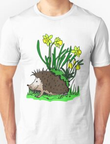 hedgehog with flowers Unisex T-Shirt