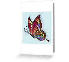Colorful Abstract Butterfly Art Greeting Card