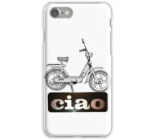 Ciao scooter white write iPhone Case/Skin