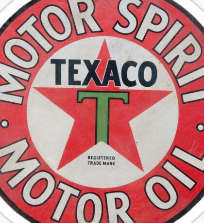 Vintage Texaco Motor Spirit Logo  Sticker