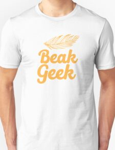 Beak Geek with feather Unisex T-Shirt