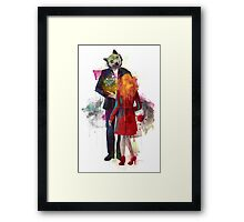 Red Riding, I Am Not Your Wolf Framed Print