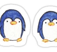 Row of Penguins Sticker