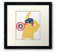 Captain Ameri-chu Framed Print