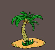 Pixel Palm Tree  Unisex T-Shirt