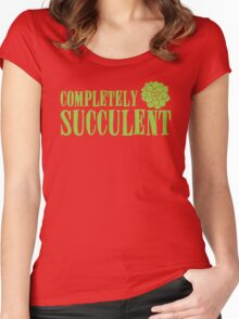 Completely succulent Women's Fitted Scoop T-Shirt