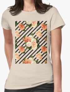 Chrysanthemum Rain Womens Fitted T-Shirt