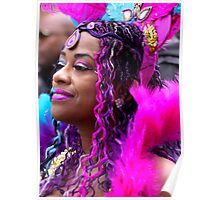 Carnival Celebrations in Pink & Purple Poster