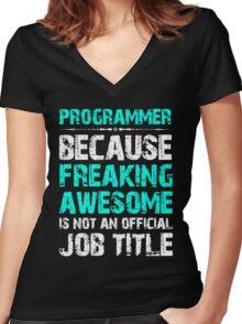 Programmer Women's Fitted V-Neck T-Shirt
