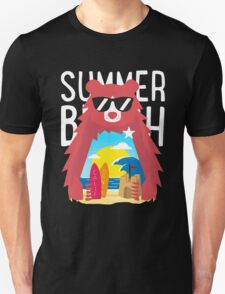 Summer California beach bear Unisex T-Shirt