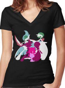 Ralts Kirlia Gardevoir Gallade Evolution Women's Fitted V-Neck T-Shirt