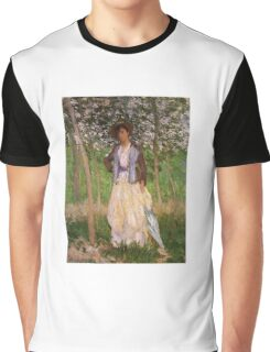 Claude Monet - The Stroller Suzanne Hoschede Graphic T-Shirt
