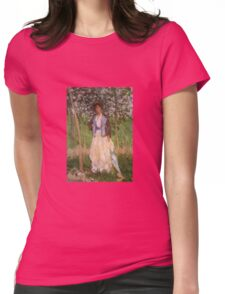 Claude Monet - The Stroller Suzanne Hoschede Womens Fitted T-Shirt