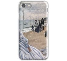 Claude Monet - On The Beach At Trouville 1871 iPhone Case/Skin