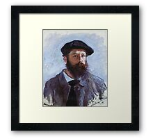 Claude Monet - Self Portrait With A Beret 1886 Framed Print
