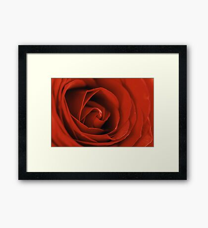 Romantic Red Rose Inside Abstract Framed Print