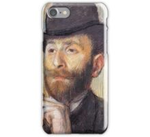 Edgar Degas - Portrait Of Zacherie Zacharian 1886 iPhone Case/Skin