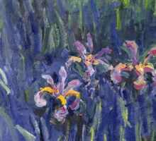 Claude Monet - Irises 2 1917 Sticker